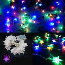 Sterne Bunt Lichterketten mit 20tlg.LEDS Batteries Leuchte
