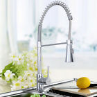 Goplus Chrome Kitchen Bath Spring Pull Out Faucet Single Hole Mixer Water Tap