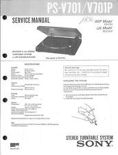Sony ORIG. Service Manual per PS-V 701/P