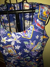 NWT DISNEY POSTCARD MICKEY & PALS CRUISE DRESS ADULT SIZE LARGE *MY LAST ONE!*