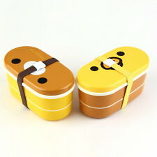 Lovely High Heat Resistance Double Layers Chopsticks Plastic Bento Lunch Box GD