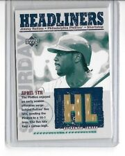 JIMMY ROLLINS 2003 UPPER DECK HEADLINERS GAME USED JERSEY