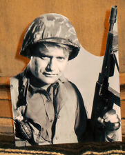 """Combat TV Show US Army """"Sgt Saunders"""" Tabletop Display Standee 10"""" Tall"""
