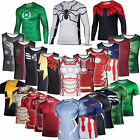 Marvel DC Comic Superhero Mens Compression Slim T-shirts Running Gym Jersey Tops