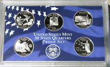2008 State QUARTER Proof Statehood 5 Coin Set No Box from United States Mint