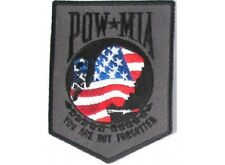 LOT OF 5 - AMERICAN FLAG POW MIA USA MILITARY VETERAN  BIKER  PATCH