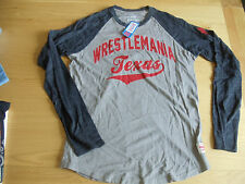 WWE WRESTLEMANIA 32 TEXAS BASEBALL T-SHIRT NEW (SIZE SMALL, OFFICIAL)