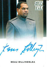 STAR TREK MOVIES 2014 AUTOGRAPH CARD BEAU BILLINGSLEA AS CAPTAIN ABBOTT