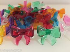 30 VINTAGE BOW MEDIUM BULBS 8 COLORS with RED Ceramic Christmas Tree Lights ~NEW