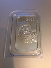 2012 Santa Claus Best Wishes Holiday Season  Fine Silver Bar .999 One Troy Oz