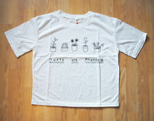 'Plants are friends' t-shirt,cute food, vegetarian- size 10 UK ,harajuku