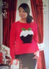 "King Cole Christmas DK Knitting pattern Unisex Jumpers 28-48"" Xmas pudding 3810"