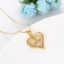 "Hot Wholesale Mom Gift 18k Yellow Gold Filled Women Pendant Necklace 18""Link New"