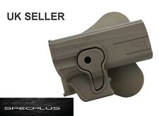IMI STYLE RIGHT HANDED POLYMER ROTO HOLSTER CZ P-07 FDE/ TAN/ BROWN NEW UK