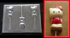 HELLO KITTY Cat Lollipop Chocolate Soap Candy Mold