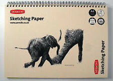 Derwent A4 Landscape Sketch Pad Wirebound Spine 30 Sheets of Acid Free 165gsm