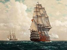 PAINTING SEASCAPE NAVAL DIEMER SHIP AT SEA ART PRINT POSTER PICTURE LF742