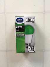 GreenLightAVet GREEN Color LED A19 NON DIMMABLE 9w Light Bulb