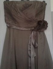 BNWT*COAST* 12(UK), ALLURE CHOCOLATE SHORT DRESS,100% SILK,BRIDESMAID, WEDDING