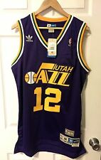 NEW AUTHENTIC JOHN STOCKTON ADIDAS SOUL SWINGMAN UTAH JAZZ THROWBACK JERSEY M