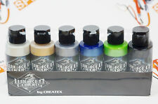Createx Wicked Colors Pearl Set Airbrush Paint Water Based 6 * 2oz W105
