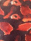 Hydrographics film red boa snake water transfer film HugasLTD