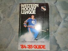 1984-85 WESTERN HOCKEY LEAGUE MEDIA GUIDE Yearbook 1984 1985 WHA Program Book AD