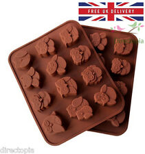 Silicone 12 Owl Cake Decorating Mould Candy Cookies Chocolate Soap Baking Mold