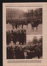 WWI Generalfeldmarschall Hindenburg Reichtag Berlin Ludendorff 1919 ILLUSTRATION