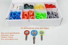 16 PCS Identification Key Rings -  Id Key Caps / Covers Key Identifier 8 colours