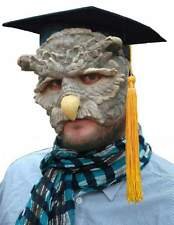 Owl Face Mask Professor Who  Bird Latex High Detailed Fancy Dress Adult