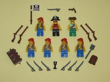 LEGO Minifigures 7 Pirates Guys Army Weapons Swords Pistols Lego Minifigs Toys