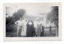 Vintage Photo Nun with Family, Group Pose, Mar