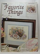 Paula Vaughan Favorite Things Counted Cross Stitch Leaflet Pattern 3140 Book 70