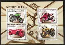 UGANDA 2012 MOTORBIKES SHEETLET MNH