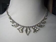 Vintage Deco Stylish Diamante Paste Glass Necklace
