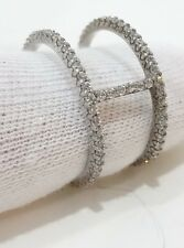 DIAMONIQUE STERLING SILVER 2 CT ETERNITY BAND RING SIZE 8.5 QVC  Modernist
