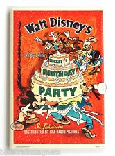 Mickey's Birthday Party FRIDGE MAGNET (2 x 3 inches) movie poster mickey mouse