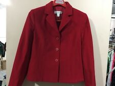 petite sophisticate ladies size 8 red button front blazer