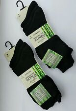 6XPairs Ladies Black Luxury Bamboo Super Soft Anti Bacterial Socks-Size UK 4-7