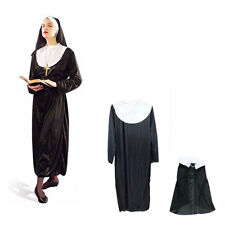 New Mother Superior Adult Long Nun Dress Habit Halloween Party Costume One Size