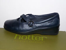 Quality Hotter Ladies Melody Wedge Flat Shoes in Navy Blue - UK Size 5 EXF