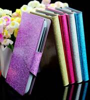 For HTC SENSATION 4G G14 Bling Glittery PU Leather Flip Wallet Case Cover