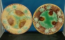 GRIFFEN, SMITH & HALL  MAJOLICA PLATES (TWO)