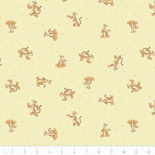 """Camelot Winnie The Pooh Tigger in yellow 100% cotton 44"""" fabric by the yard"""
