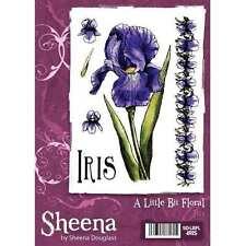 Un poco Floral Iris A6 Sello De Goma por Sheena Douglass