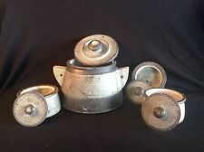 RARE Antique Set Of 4 Soapstone Canisters Or Pots Early Native Or American Pots