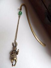 Antique Bronze Vintage Style Rabbit Alice in Wonderland Inspired Charm Bookmark