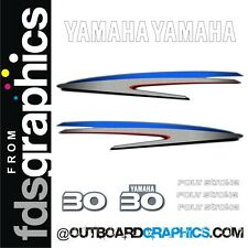 Yamaha 30 four stroke outboard engine decals/sticker kit