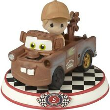 $ PRECIOUS MOMENTS DISNEY Figurine CARS PIXAR MOVIE Tow Truck Mater Lumber Boy
